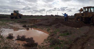 بازگشایی مسیر سیلاب جهت کنترل و هدایت سیلاب به خارج از فیض آباد